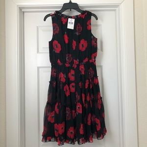 NWT! Kate Spade Poppy Chiffon Mini Dress, Size 0
